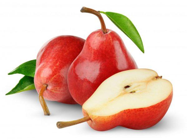 Плоды красного цвета, мякоть кремового оттенка