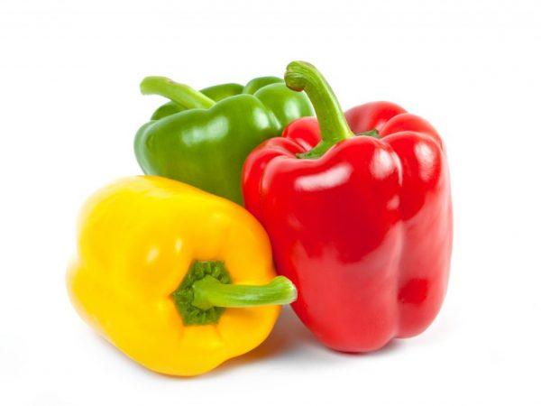Цвет перцев может быть разным