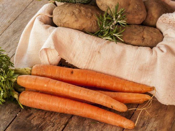 Содержание крахмала в моркови