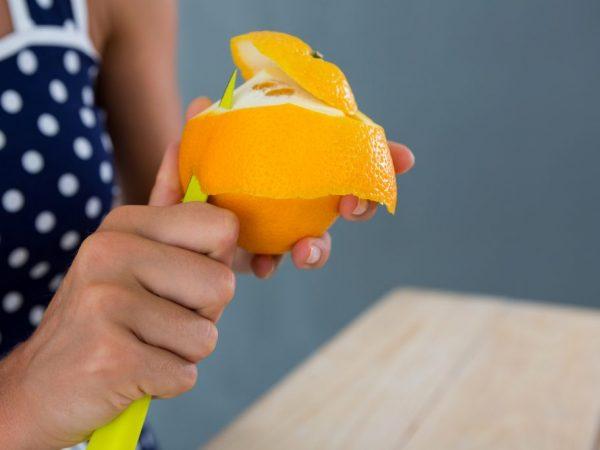 Способы очистки апельсина