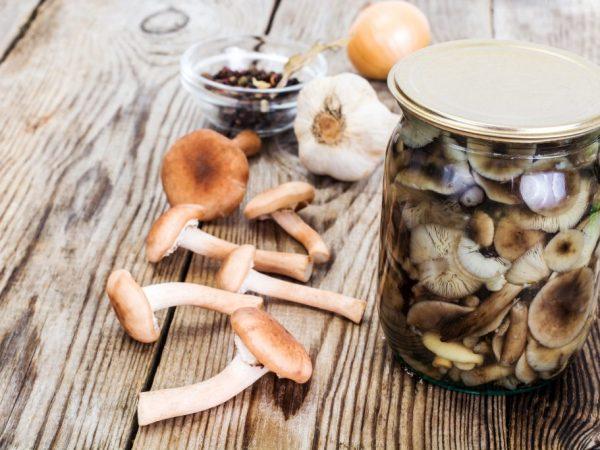 Маринованные грибы хранятся не больше года