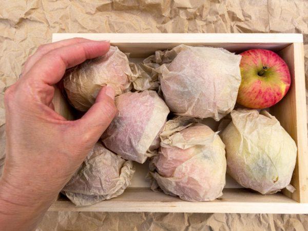 Индивидуально упаковываем каждое яблоко